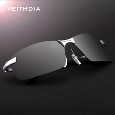 Luxury Brand Veithdia Mens Polarized UV400 Sunglasses For Men's Driving Car Sports Male Original Famous Sun Glasses Half Frame