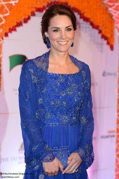 hrhduchesskate: Royal Tour 2016-Bollywood Reception, Mumbai, India, April 10, 2016-The Duchess of Cambridge