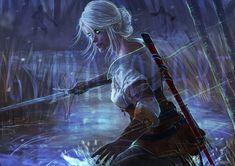 Ciri Witcher, Witcher Art, The Witcher Game, Witcher 3 Wild Hunt, Dark Fantasy, Fantasy Art, Medieval, Dark Anime Girl, Cool Wallpapers For Phones