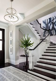 Interior Design Ideas Benjamin Moore Stonington Gray.  Diamond Custom Homes, Inc.  Painted Millwork