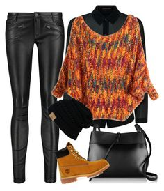 """""""get warm and rock"""" by freshdee on Polyvore featuring Maje, Jaeger, Kara and Timberland"""