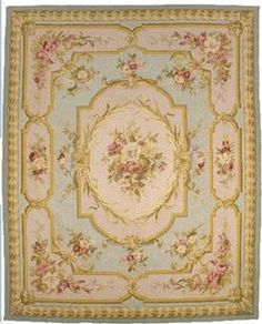 Aubusson Rug...I love this rug!!Yes it's granny but I still like it!:)