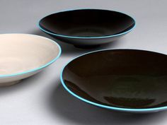 blue-rimmed bowlsc  James and Tila Waters