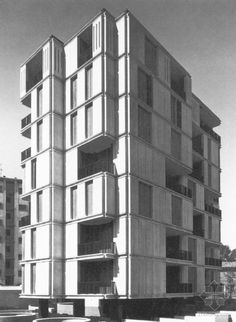 "architectureofdoom: "" Residential building, Monza, Angelo Mangiarotti, 1972 """