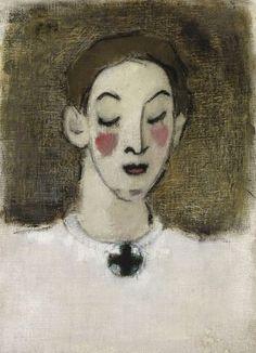 Nurse I (Kaija Lahtinen), 1943 by Helene Schjerfbeck.