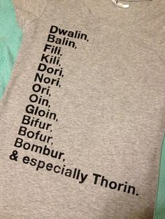 Party of 13 Hobbit tshirt by kayleeksauvey on Etsy. , via Etsy.