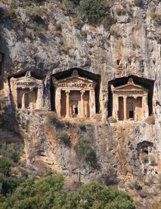 Lycian Tombs,Turkey #ancientgreekarchitecture