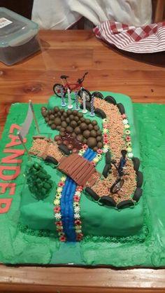 Bike track cake
