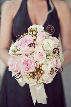 Rustic & Relaxed Flowers, Wedding Flowers Photos by 1313 Photography - Image 3 of 28 - WeddingWire Love this except for the dark curly things!