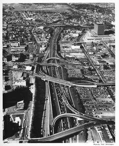 harbor freeway, 1964