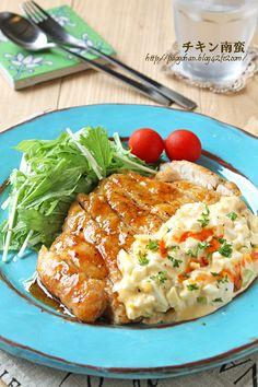 揚げない鶏胸肉のサクサクチキン南蛮☆ - ぱおのおうちで世界ごはん☆