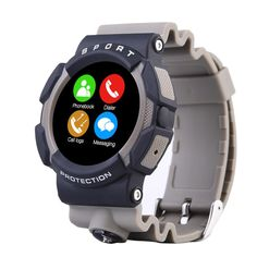 LandRum® A10 Sport Bluetooth Waterproof Smart Watch Wristwatch For IOS Android Smart Phone (Grey). Make calls, see text messages, synchronization time weather, photo camera, Call logs, contacts. Independent music player, pedometer Exercise can also connect a Bluetooth headset to listen to independent music inside the watch, etc. IP67 Waterproof , swim in the water.Heart rate monitor: Optical heart rate sensor. Pedometor,Sleep monitor,Sedentary reminder,Remote Camera,Temperature sensor...