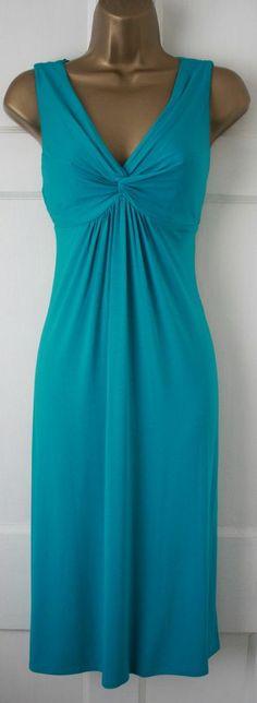 M&S Per Una Turquoise Blue VTG 50's Shift Party Lace Summer Sun Tea Dress