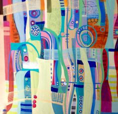 Original acrylic painting #abstract art on canvas by artist  Eva Holz