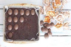 DOVE Eggs Peanut Butter Fudge Brownies