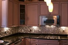 awesome stainless steel back splash!