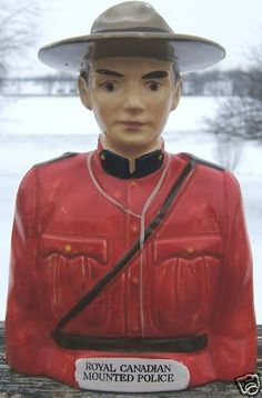 Look what I found on @eBay! http://r.ebay.com/OlEABX Vintage ROYAL CANADIAN Mounted POLICEMAN Ceramic Bank JAPAN 1960s