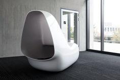 SleepBox, a contemporary and organic piece of furniture in HI-MACS®