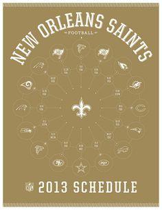 New Orleans Saints 2013 Schedule #NewOrleans #Saints #Football #NFL