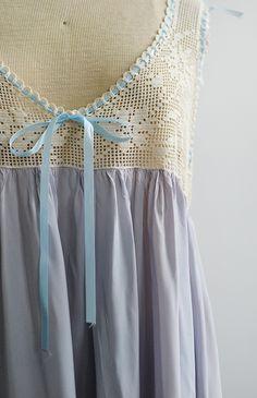 antique 1910s light blue silk nightgown Silk Nightgown c246d68d0