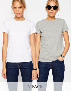 5479db6777 ASOS The Ultimate Crew Neck T-Shirt 2 Pack Save 15% at asos.com