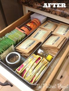 Tea & Coffee Station | The Pinterest Project #organize