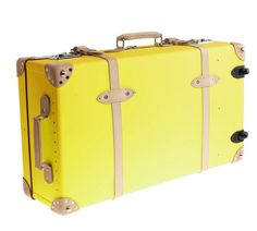 "Sweet nostalgia in a trendy color! GLOBE-TROTTER® CENTENARY 30"" EXTRA-DEEP SUITCASE WITH WHEELS  - Svpply via JCREW"