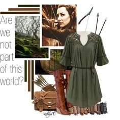 Tauriel - The Hobbit by rubytyra on Polyvore featuring polyvore fashion style Proenza Schouler Urban Decay