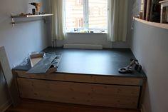 Ombygning af sovev�relse - en slags DIY Storage Chest, Bench, Loft, Cabinet, Diy, Furniture, Home Decor, Clothes Stand, Decoration Home