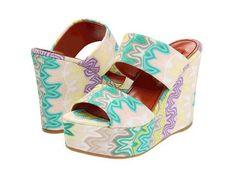 MIssoni #shoes #heels  #wedge #Sandals 40% OFF!