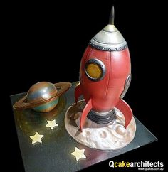 Great 3D rocket ship cake