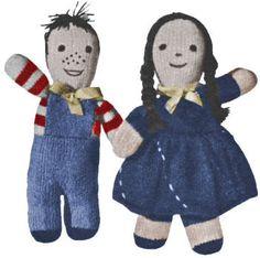 Boy & Girl Dolls Vintage Knitting Pattern to download
