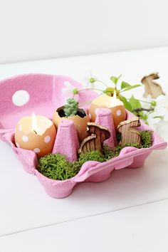 Easter DIY - Egg box garden