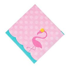 Pink flamingo party napkins featuring a pink flamingo illustration, ideal for a flamingo birthday party. Pink Flamingo Party, Flamingo Decor, Flamingo Birthday, Pink Flamingos, Flamingo Gifts, Beach Party Games, Backyard Party Games, Engagement Party Games, Engagement Party Decorations