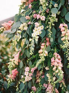 Lush wedding arbor f