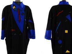 MaryLou Ozbolt Storer Wearable Art Wool Coat  Awesome Marylou Ozbolt-