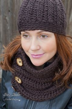 Fur Pom-pom Beanie With Neck Warmer Crochet Pattern Crochet Poncho, Crochet Beanie, Knitted Hats, Crochet Hats, Crotchet, Crochet Neck Warmer, Pom Pom Hat, Womens Scarves, Headbands