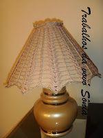 Trabalhos da vovó Sônia: Abajur - cúpula customizada - crochê