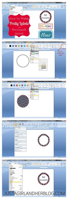 How to Make Pretty Labels in Microsoft Word Pinterest Microsoft