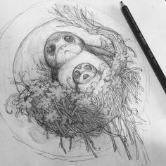 Not sure I need to go for a walk now #sketch #drawing #doodle #art #artistsofinstagram #porg #starwars