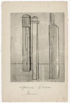 Louise Bourgeois. Untitled, plate 3, third version, state IV, from He Disappeared into Complete Silence. (1946-1947)