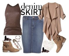 """""""DENIM SKIRT"""" by jelena-topic5 ❤ liked on Polyvore featuring Paige Denim, Rick Owens, Miss Selfridge, text and denimskirt"""