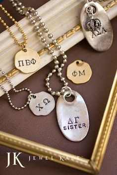 What a cute way for sorority women to celebrate their sisterhood! :)  see more at www.jewelkade.com/sarahfoutz