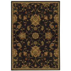 Floral Black/ Green (3'10 x 5'5) - Overstock™ Shopping - Great Deals on Style Haven 3x5 - 4x6 Rugs