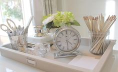 15 Stunning Desk Tray Vignettes and Quick Tips to Get the Look at Home