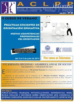 ACLPP informa: boletín informativo de la Asociación Castellano-Leonesa de Psicología y Pedagogía ISSN  1989-7804