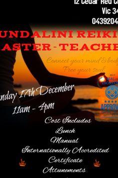 Kundalini Reiki, Trauma, Meditation, December, Therapy, Healing, Mindfulness, Teacher, Places
