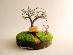 The Meeting Place  OOAK Wire Tree Sculpture by DrommeLund on Etsy
