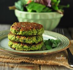Broccoli Fritters I wanted to make broccoli fritters that were vegan, gluten-free and perfect for someone on a candida diet. I used flaxseed and chickpea flour as binders and must say that they worked very well in this recipe.: