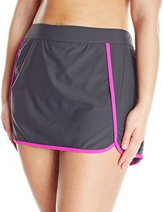 Introducing Free Country Womens PlusSize Skort Bikini Bottom SteelHot Pink  3X. Great Product and follow fed9954273f12